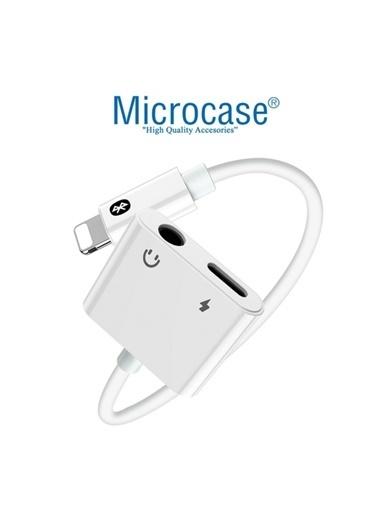Apple Iphone Lightning 2in1 Şarj Kulaklık Dönüştürücü 3.5mm Jack Mh-030 Kaliteli Beyaz